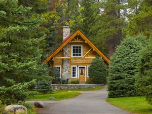 Exterior of Family Cabin at Alpine Village Jasper