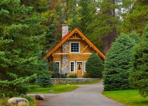 Exterior of cabin at Alpine Village Jasper