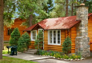 Exterior of cabin at Alpine Village Jasper