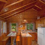 Interior of cabin at Alpine Village Jasper