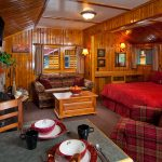 Interior of cabin at Alpine Village Jasper