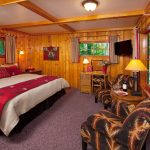 Interior of Heritage Sleeping Cabin at Alpine Village Jasper