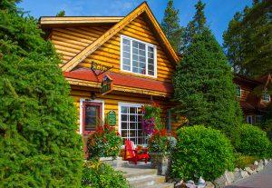 Exterior of office at Alpine Village Jasper