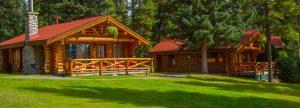 Exterior of cabins at Alpine Village Jasper